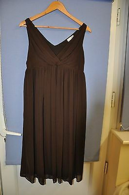 Next Chocolate Brown Maternity Dress - Size 8