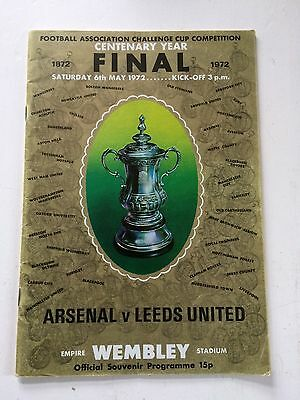 Arsenal v Leeds United 1971-72 (FA Cup Final) + match ticket