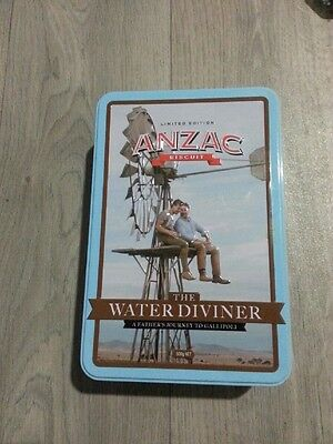 ANZAC BISCUIT TIN  WW1 The Water Diviner - A Fathers Journey to Gallipoli