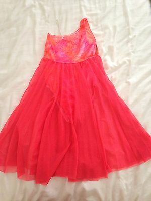 Orange and Pink Lyrical Dance Costume Size 8