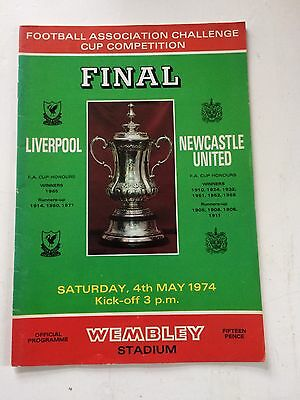 Liverpool v Newcastle United 1973-74 (FA Cup Final) + match ticket