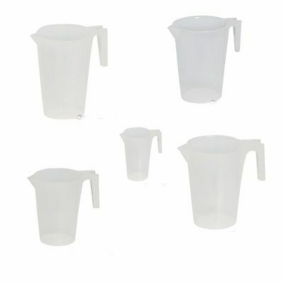 Measuring Jugs 250ml 500ml 1Ltr 2Ltr 5Ltr Graduated Metric Marking Hot Cold 33D