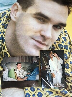 LOOK! RARE Original 1980s MORRISSEY THE SMITHS poster + PHOTOGRAPH! + celebrity?