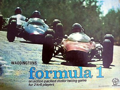Waddington's Formula One Board Game - Spares / Replacement Parts - Vintage 1962