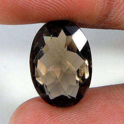 10.24Cts Natural Superb Quality Smoky Quartz Oval Cabochon Aura.gems Gemstone