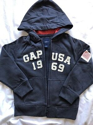 Boys GAP Navy Hoody Age 4-5