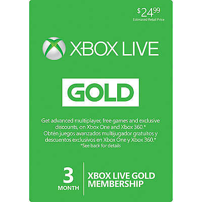 3 Month Xbox Live Giftcard-Instant Delivery