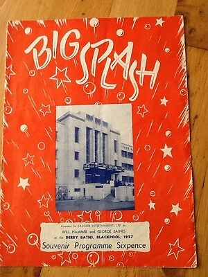 "Derby Baths, Blackpool - 1957 ""Big Splash"" Robert Earl, Albert Burdon"