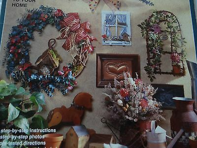 Country Florals - 15 Floral Projects - Wreaths Swags Windows Flower Arrangements