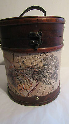 Quality Circular Wooden Storage Box ~ lovely decorated storage box