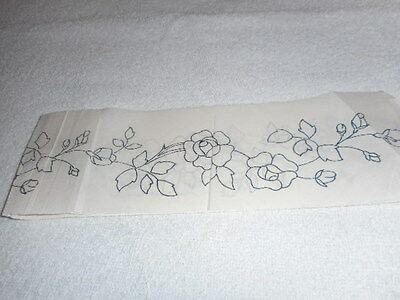 Vintage Embroidery Iron on Transfer Border- Flowers / Roses