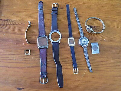 Selection Of Vintage Watch Straps~Cases~Buckle~Kreisler~Services~Longines~Used