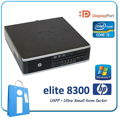 PC usdt HP Elite 8300 USFF Core i5 8GB 500GB DVDRW Windows 7 Pro Ordenador usff