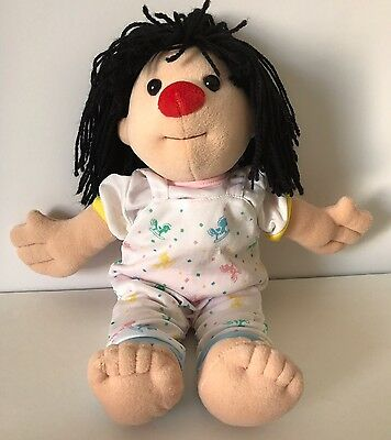 """1995 Big Comfy Couch Molly Doll 14"""" Rocking Horse Pajamas Bedtime Plush Clowning"""