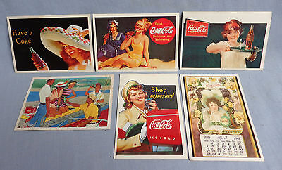 6 Vintage The World Of Coca Cola Stickers 1985 Panini