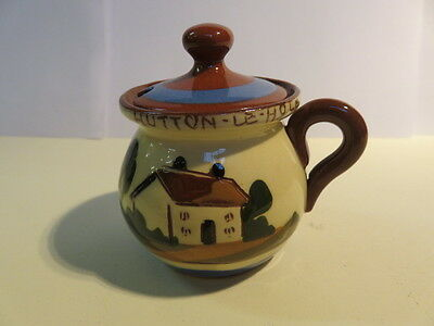 Lovely 'hutton-Le-Hole' Little Tourist Aller Vale Style Mustard Pot With Lid