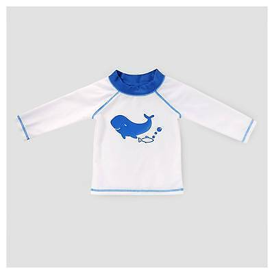 Baby Boys' Whale Rash Guard Cat & Jack™ - White & Blue 9-12 M