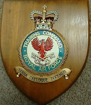 RAF Royal Air Force TRAINING COMMAND Crest Shield Plaque Badge