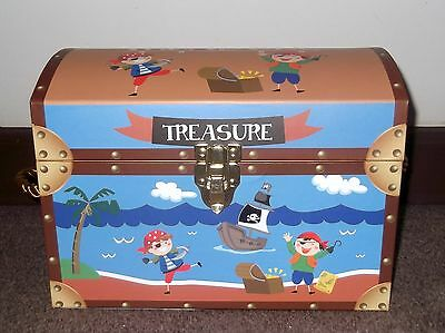 Childrens Boys Girls Small Pirate Treasure Chest Toys Storage Box Trunk Tidy