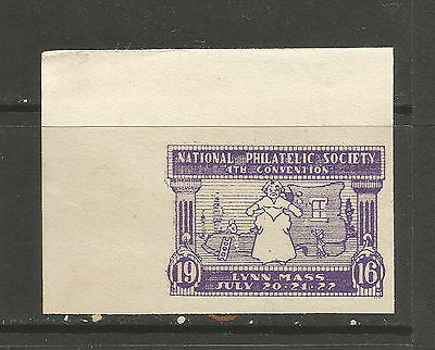 USA/MA Lynn 1916 4th National Philatelic Society Convention poster stamp/label