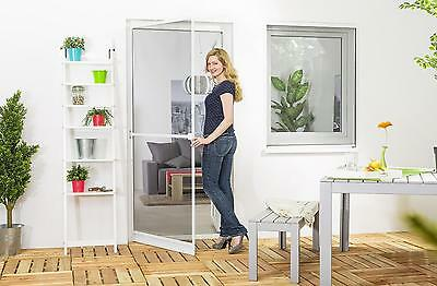 Insect Protection Fly Screen Door Aluminum frame PREMIUM WHITE 100 x 210 cm