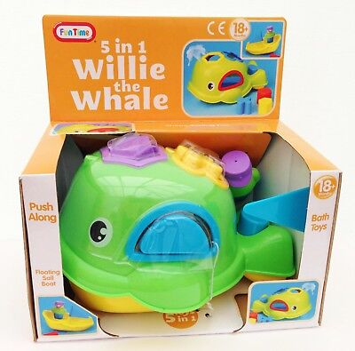 Willie the WHALE Squirting Bath Toy Shape Sorter Squirter Baby Toddler Childrens