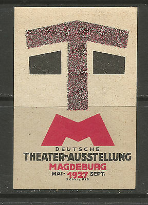 Germany/Magdeburg 1927 German Theatre Exhibition poster stamp/label
