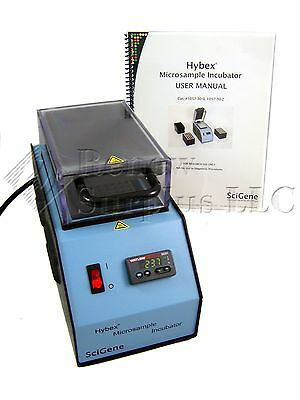 SciGene Hybex Microsample Incubator 1057-30-0 w/ 96 Well PCR Heat Block & Manual