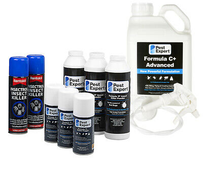 Rentokil Pest Expert Professional Treatment Bed Bug Killer Control Kit Advanced