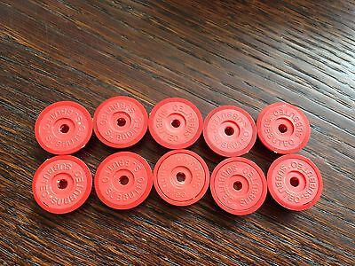 Subbuteo LW Bases x 10: Red / Red