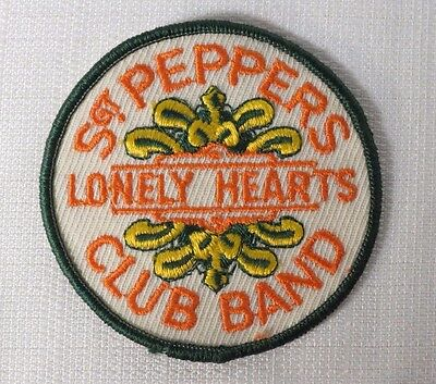 Beatles Vintage Sgt Pepper's Lonely Hearts Club Band Drum Head Sew On Patch