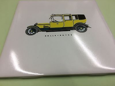 H&R Johnson (Vintage) Rolls Royce Veteran Car Tiles Post Free