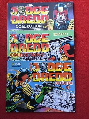 The Judge Dredd Collection Issue #1,2,3. Vintage 1985 Excellent IPC Magazines