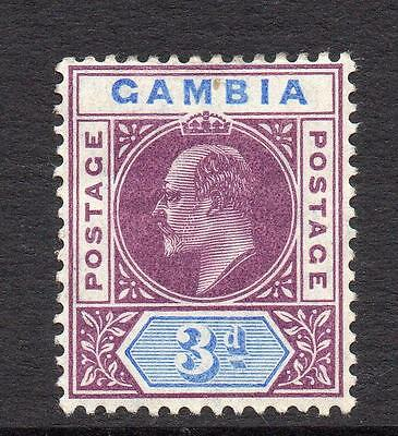 Gambia 3d Stamp c1904-06 Mounted Mint