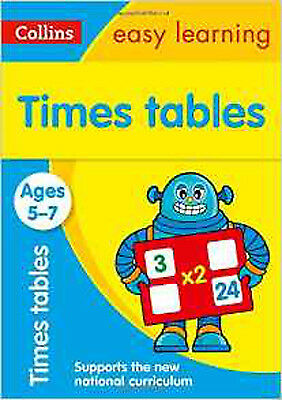 Times Tables Ages 5-7: New Edition (Collins Easy Learning KS1), New, Collins Eas