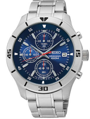 SCNP SKS399P1 Seiko Gents Chronograph Date Display Stainless Bracelet Watch