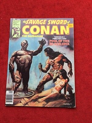 Savage Sword of Conan # 22 Pool of the Black One