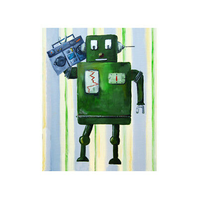 Cici Art Factory Donka Loves 80s Music Robot Canvas Art