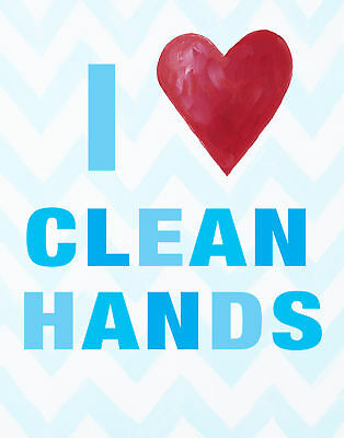 Cici Art Factory I Heart Clean Hands Paper Print