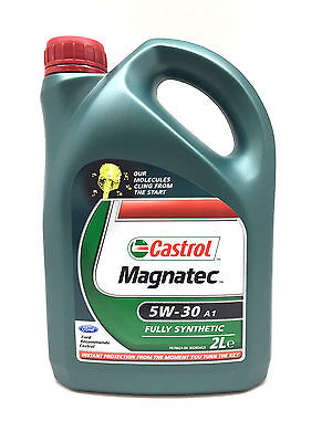 2 Ltr Castrol MAGNATEC 5W-30 A1 Fully Synthetic Engine Oil 2 Litre 2L