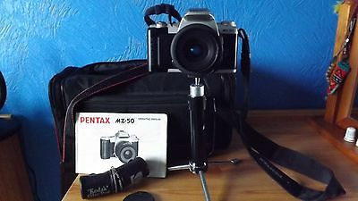 Pentax Mz-50 With Matched Zoom Lens, Manual, Bag, Film, Etc.
