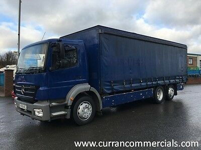 06 Mercedes Axor 2528 26 Ton 6x2 on air 26ft Curtainsider with tail lift