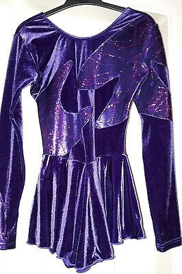 Figure skating dress. Size 3 (approx size 6-8). With boot covers.
