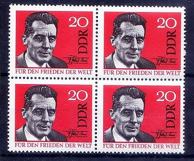 Frederic Joliot-Curie, Nobel Chemistry, Signature, DDR MNH Blk 4 - G113