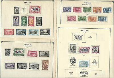 Panama 1942-1963 Collection on Scott International Pages, 20 Pages