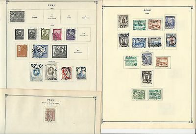 Peru 1941-1963 Collection on Scott International Pages, 15 Pages