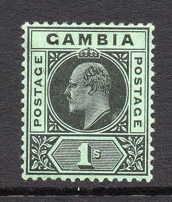 Gambia 1/- Stamp c1909 Mounted Mint