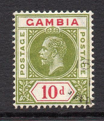 Gambia 10d Stamp c1912-22 Used