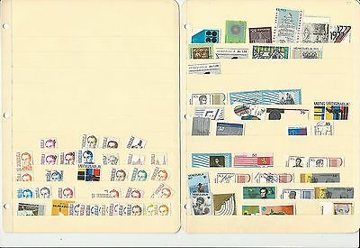 Venezuela Collection of Modern Stamps on 8 Stock Pages, Nice Condition Lot