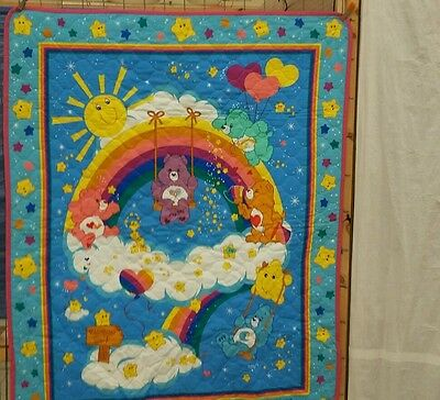 baby crib quilt.    CARE.  BEARS.     WALL HANGING. NEW